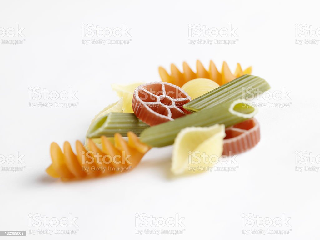 Mixed Pasta Shapes royalty-free stock photo