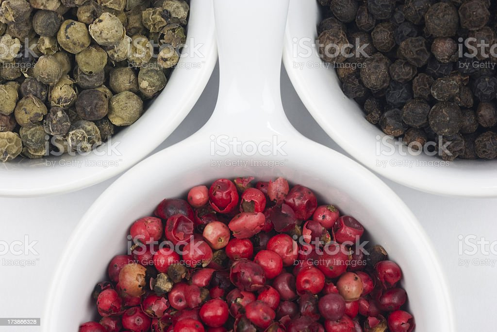 Mixed Peppercorns stock photo