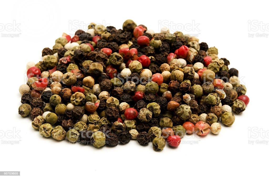 Mixed Peppercorns royalty-free stock photo