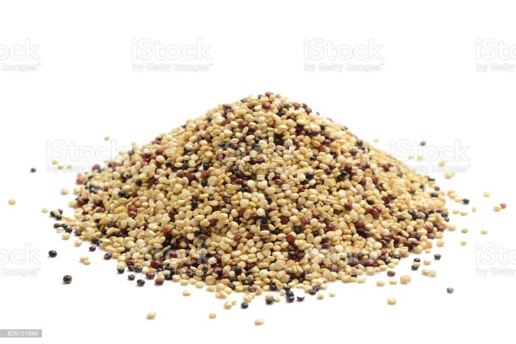 Mixed quinoa stock photo