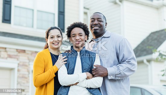 istock Mixed race African-American and Hispanic family 1139540436