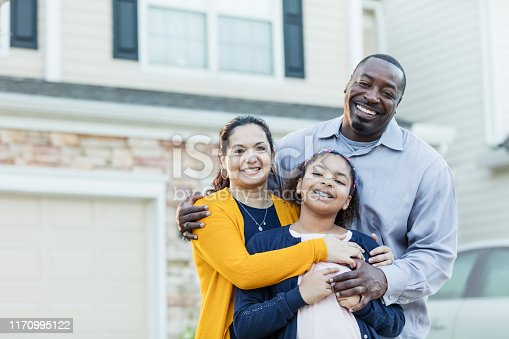istock Mixed race African-American and Hispanic family 1170995122