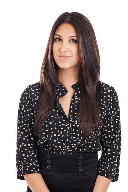 Mixed Race Businesswoman Portrait stock photo