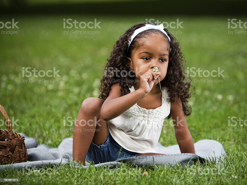 Mixed Race child in the Park royalty-free stock photo