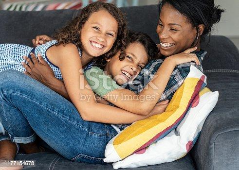 172407626istockphoto Mixed race family 1177154678