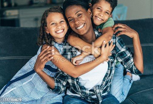 172407626istockphoto Mixed race family 1177154679