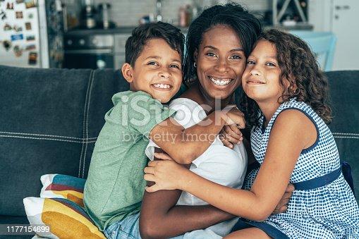 172407626istockphoto Mixed race family 1177154699