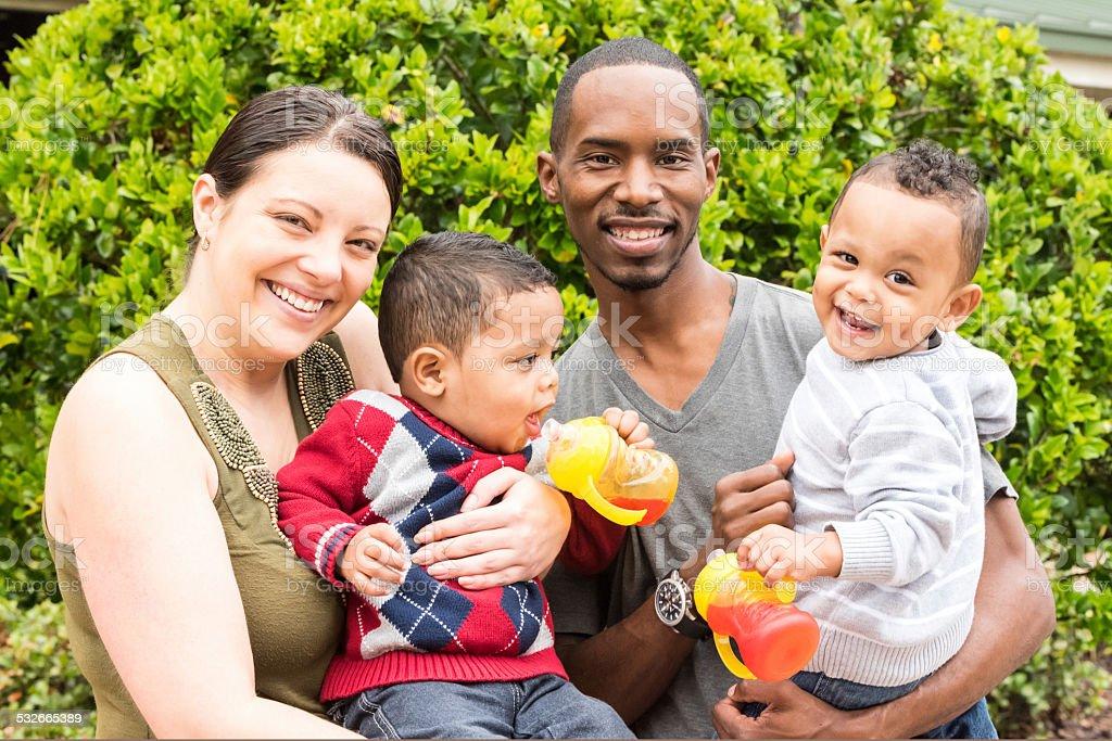 race mixte famille - Photo