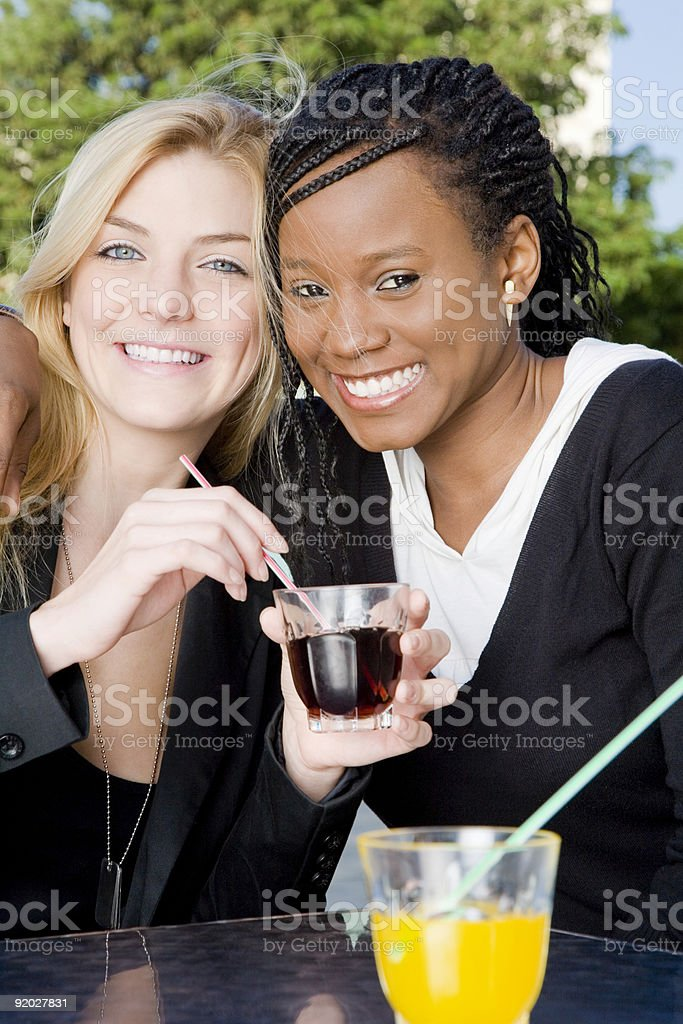 Mixed race friends royalty-free stock photo