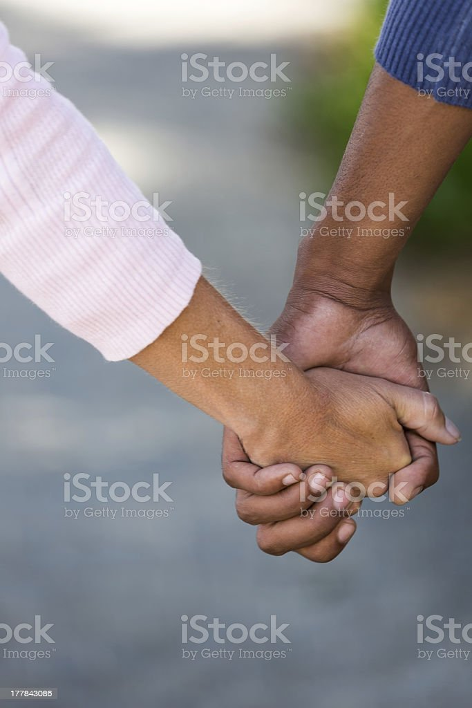 Mixed Race Hands stock photo
