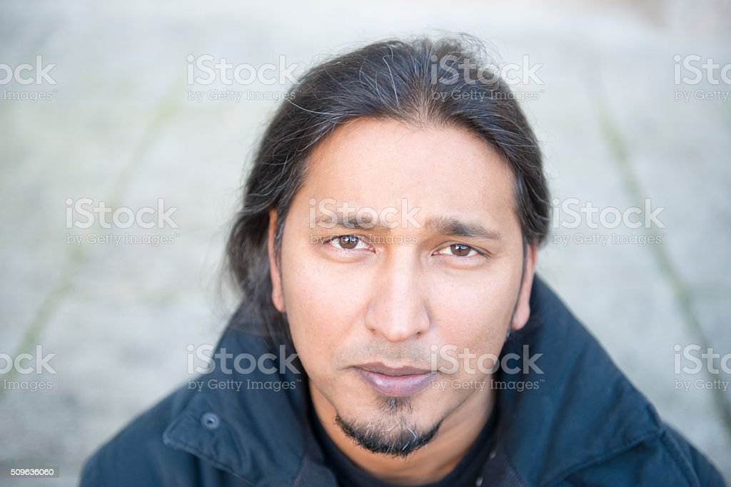 Mixed race portrait royalty-free stock photo