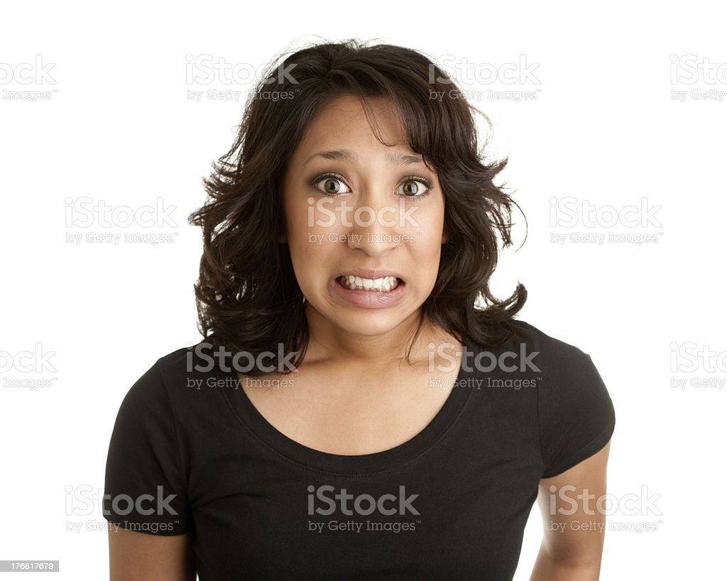 Mixed Race Woman Made a Mistake royalty-free stock photo