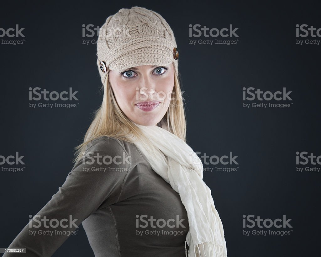 Mixed Race Woman With Attitude (Yellow Background) royalty-free stock photo
