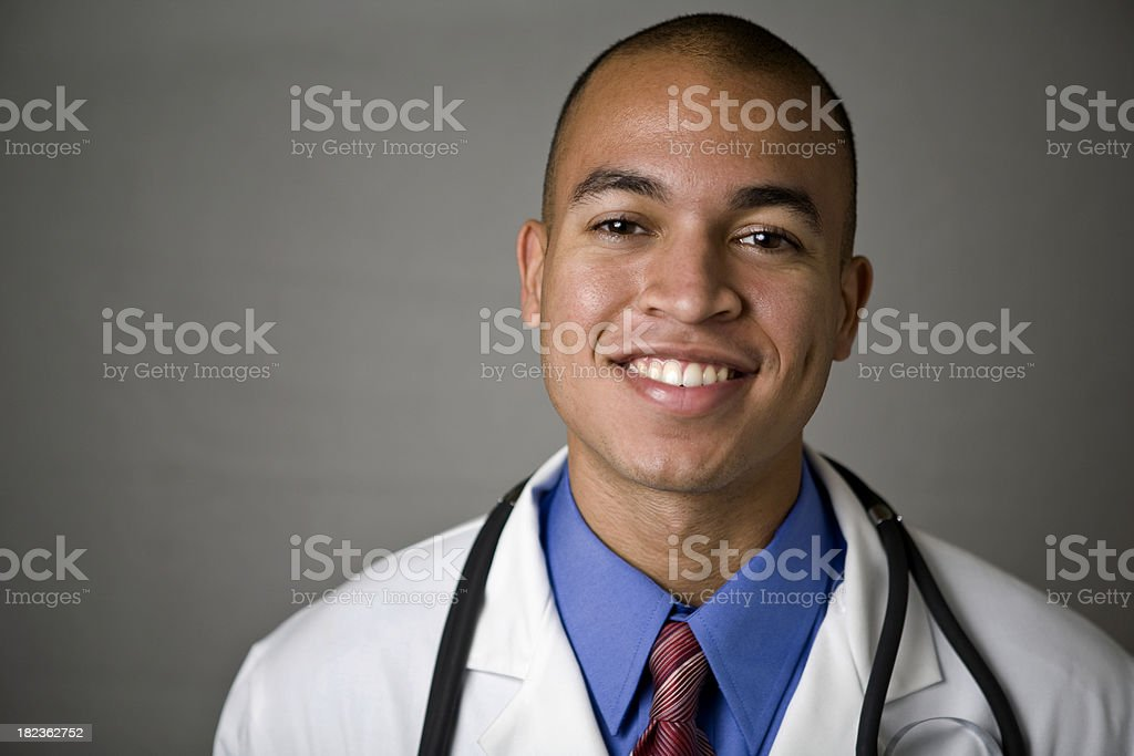 Mixed race young male doctor royalty-free stock photo