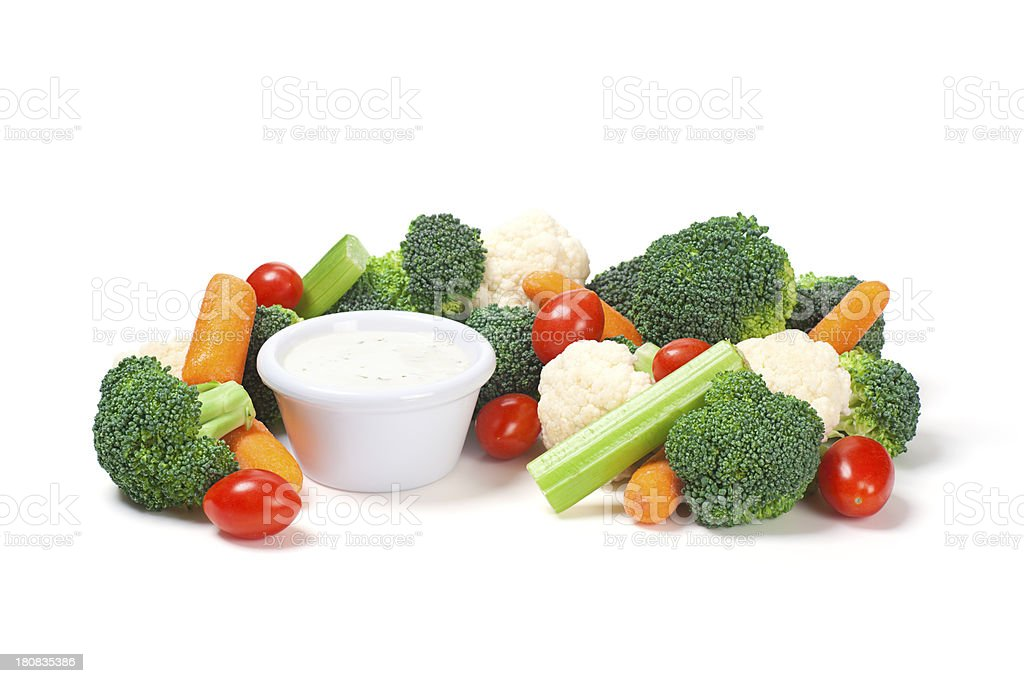 Mixed Raw Vegetables Crudite stock photo