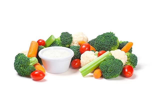 Gemischte rohem Gemüse-Crudité – Foto