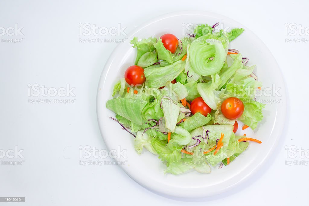 mixed salad in dish stock photo