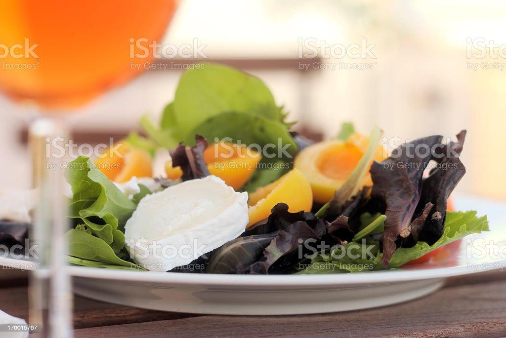Mixed Salad Outdoors Close-up royalty-free stock photo