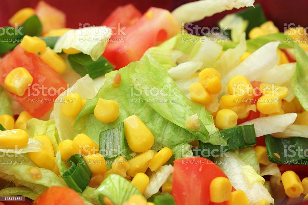 mixed salad stock photo