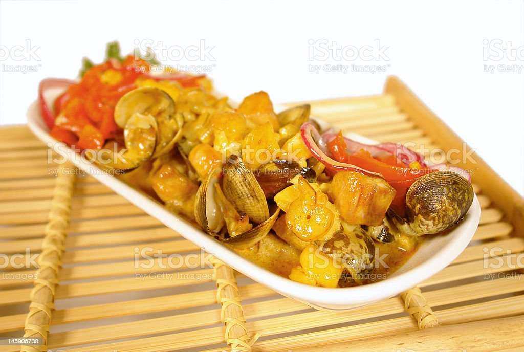 Mixed seafood stock photo
