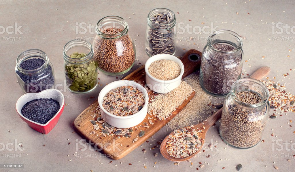 Mixed Seeds stock photo