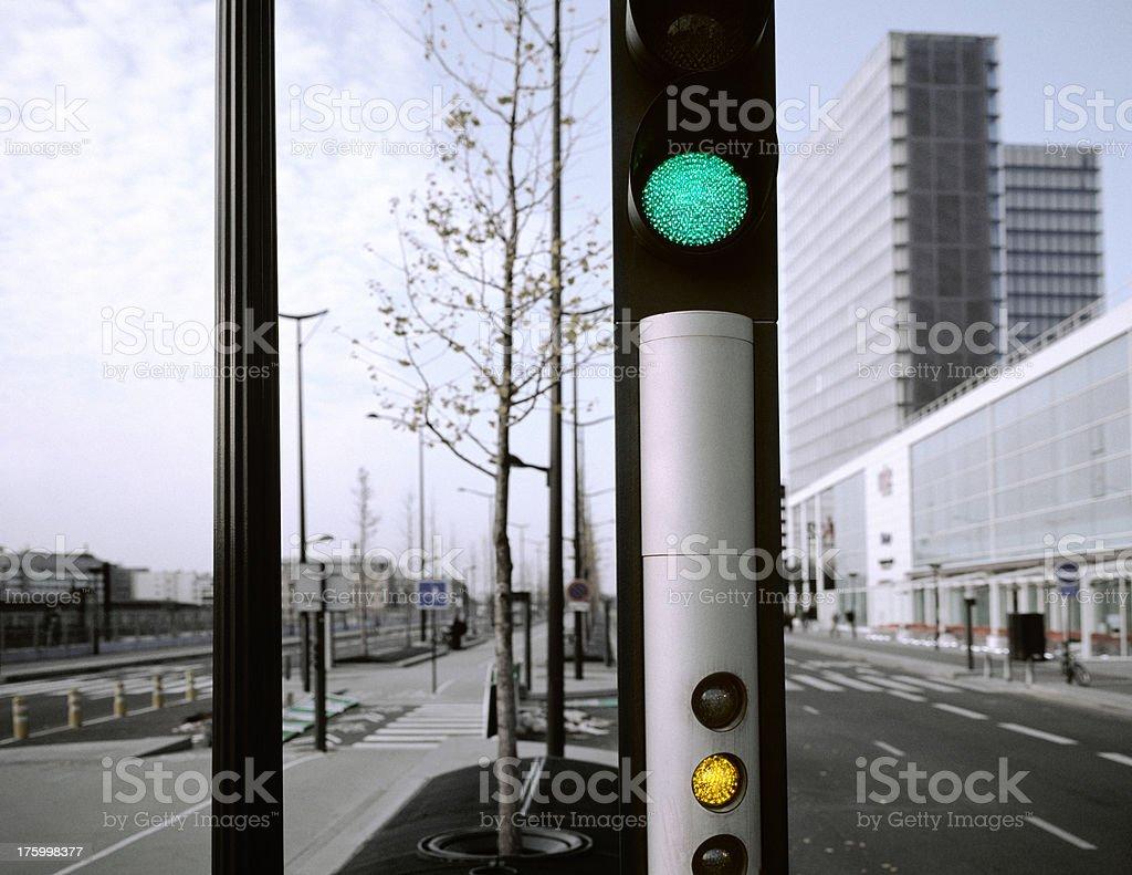 Mixed signals, Paris, France. royalty-free stock photo