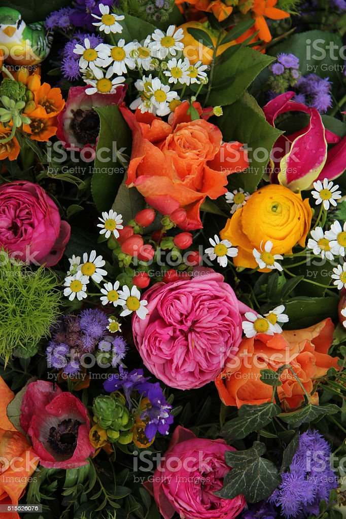 Mixed spring bouquet stock photo