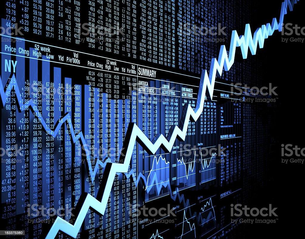 Mixed stock market figures stock photo
