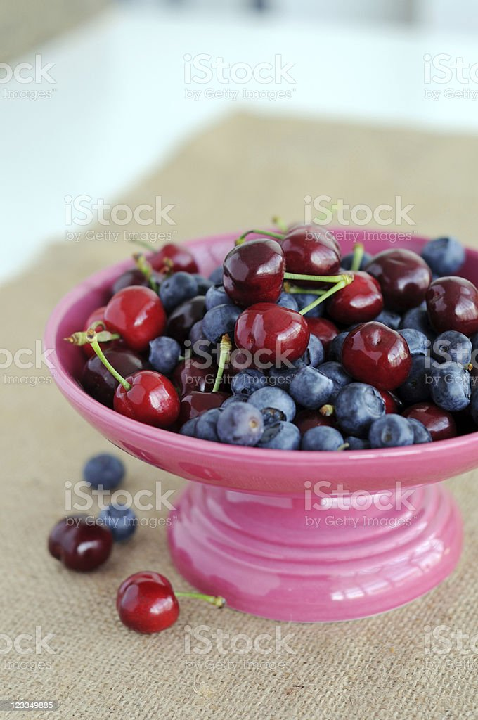 Mixed summer berries royalty-free stock photo