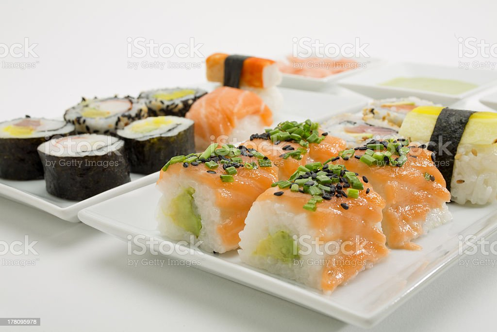 Mixed Sushi royalty-free stock photo
