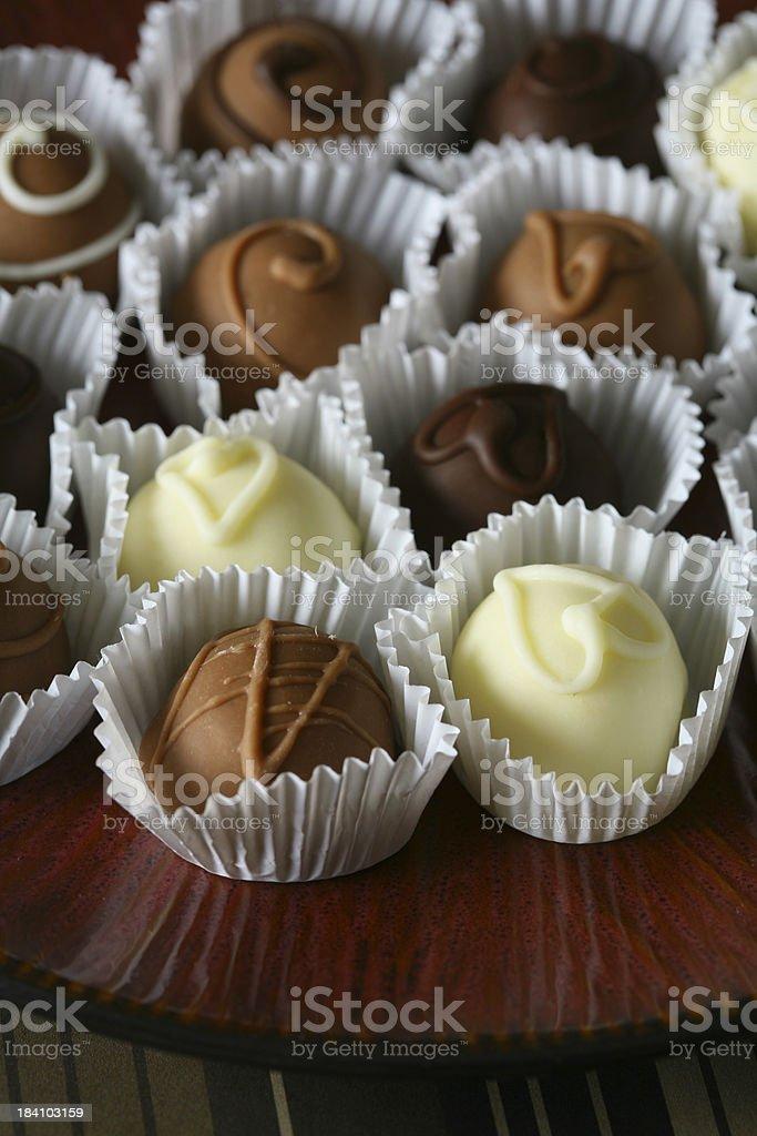 Mixed Truffles royalty-free stock photo