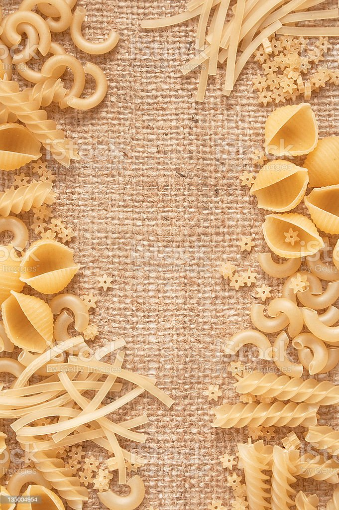 Mixed uncooked macaroni royalty-free stock photo