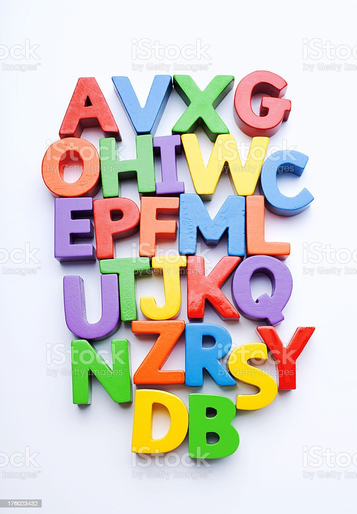 mixed up colorful letters studio isolated royalty free stock photo