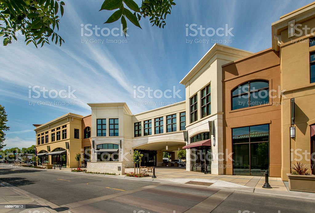 Mixed Use Commercial Building Exterior stock photo