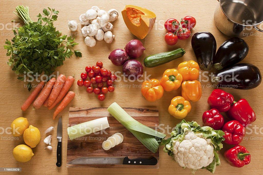 Mixed vegatable royalty-free stock photo