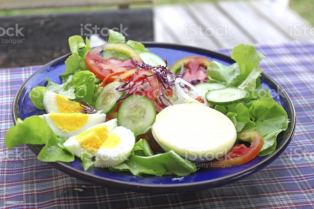 Mixed vegetable salad royalty-free stock photo