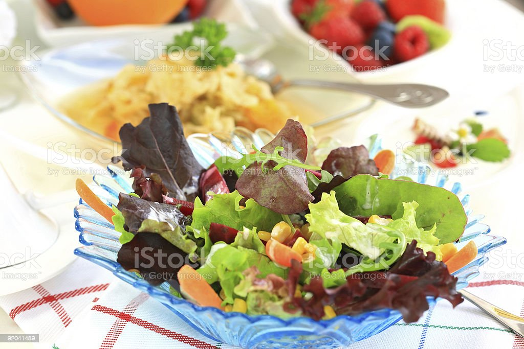 Mixed vegetable salad stock photo