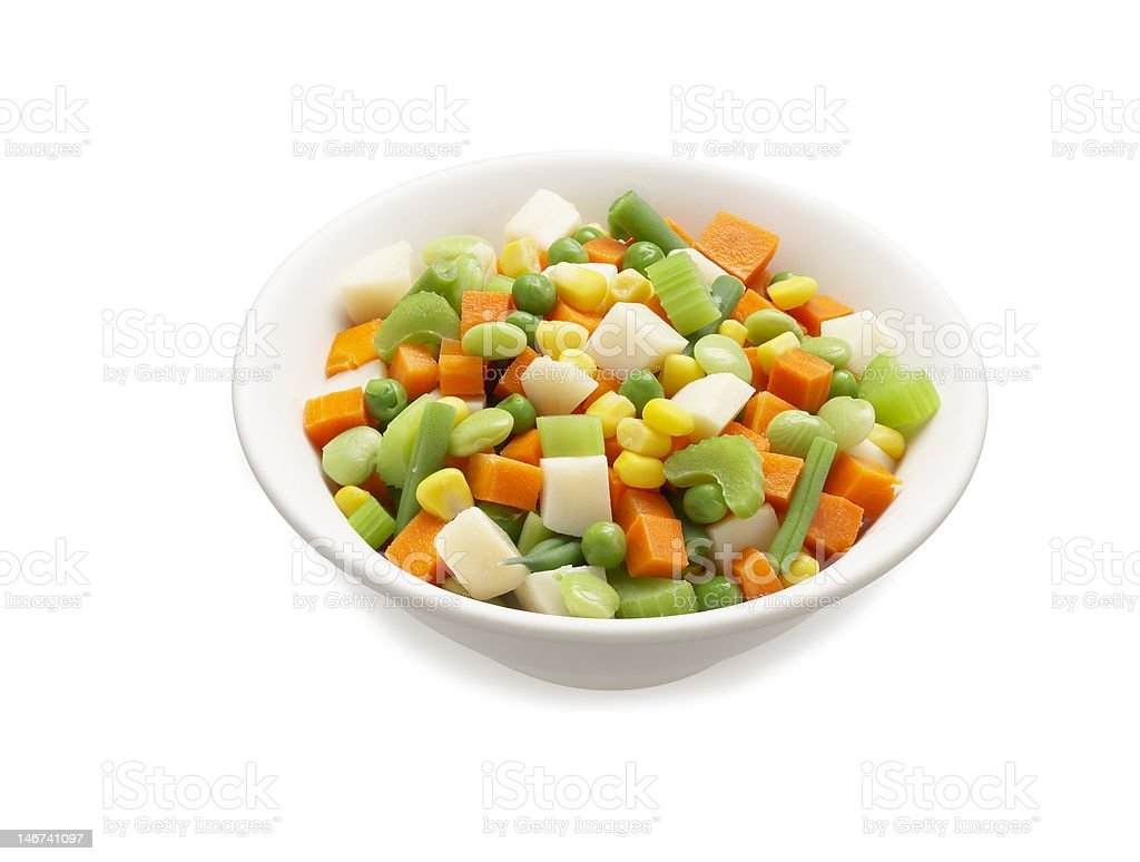 Mixed Vegetables in a bowl stock photo