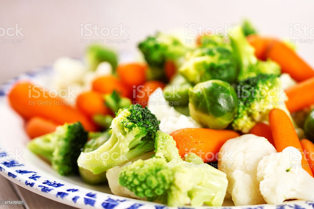 Mixed Vegetables On a Plate stock photo