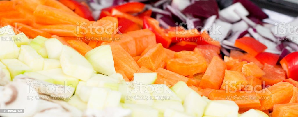 Mixed vegetables stock photo