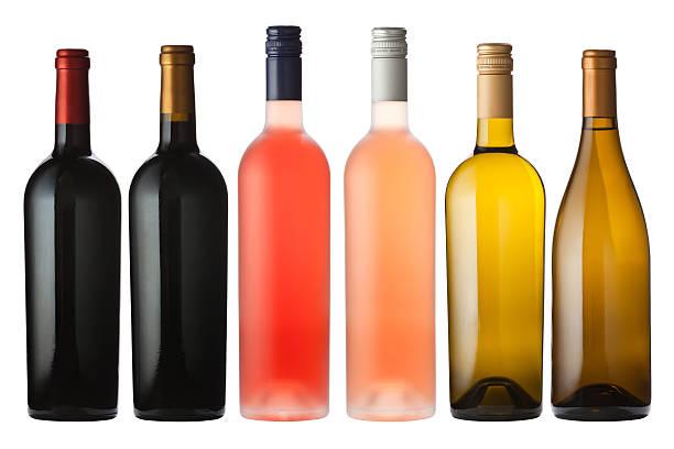 Mixto botellas de vino blanco - foto de stock