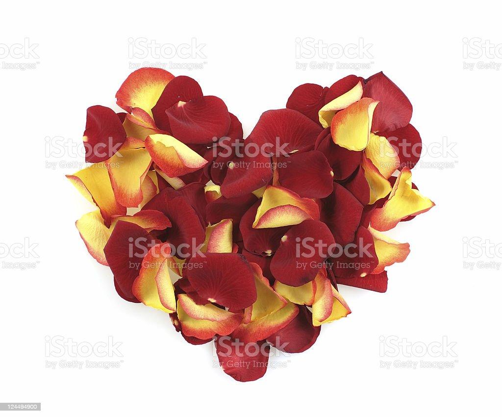 Mixed-Leaf Heart Shape royalty-free stock photo