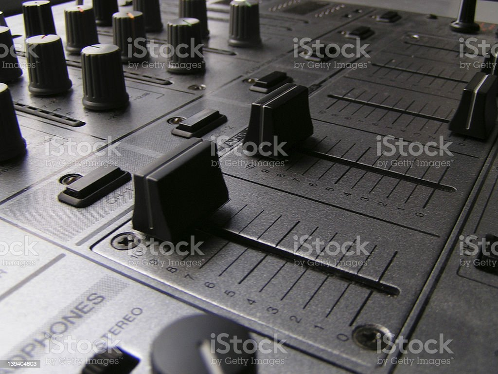 DJ Mixer 2 royalty-free stock photo