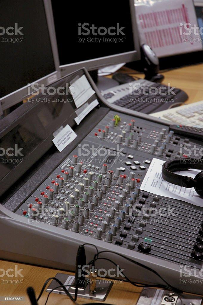 mixer and headphones royalty-free stock photo