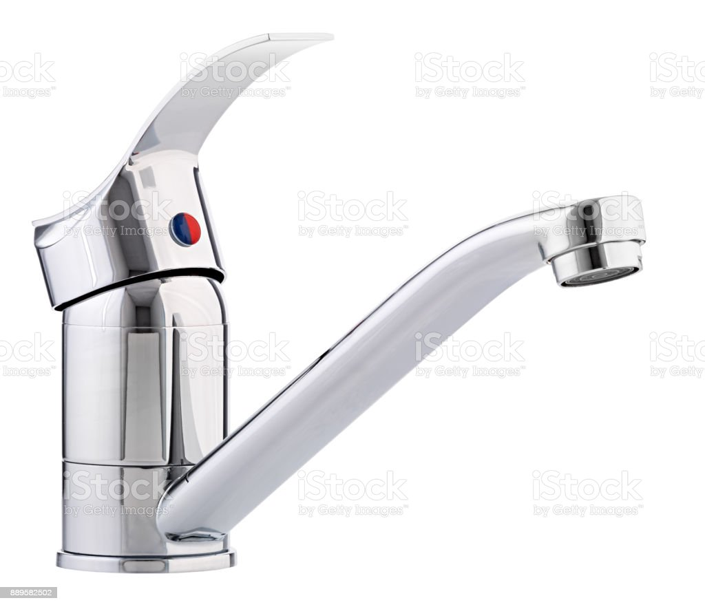 Mixer Cold Hot Water Modern Faucet Bathroom Kitchen Tap Isolated ...
