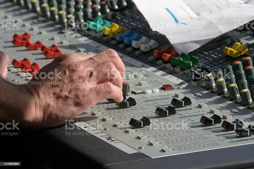 mixer in action royalty-free stock photo