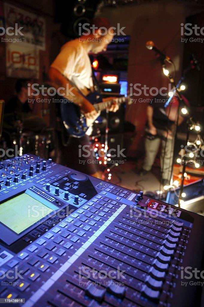 mixer in concert stock photo