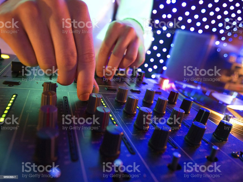 Mixer in nightclub royalty-free stock photo