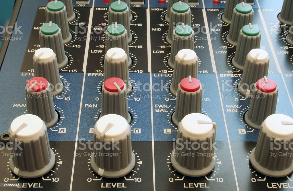 Mixer Knobs stock photo