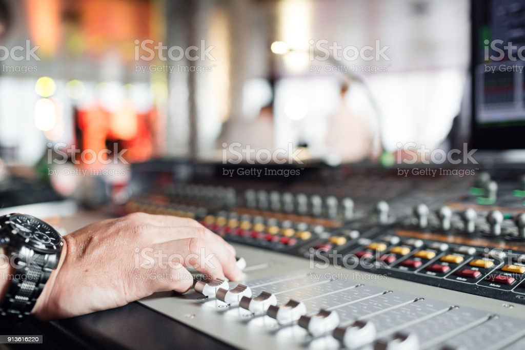 Mixer Sound Control Concept Hand Control Button Sound Mixer
